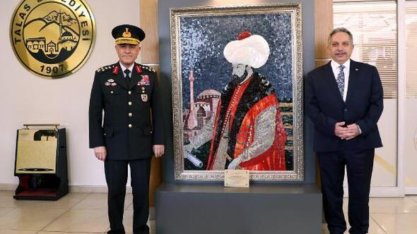 Orgeneral Çetinden, Başkan Yalçına ziyaret