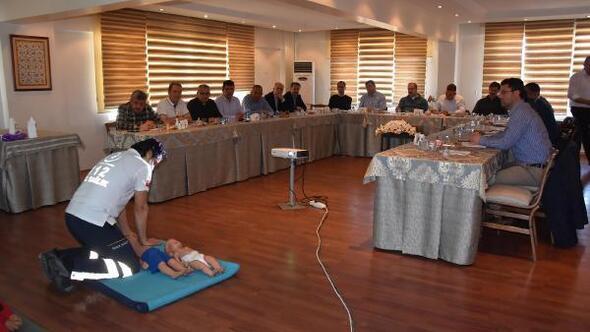 Kütahyada protokol üyelerine ilk yardım eğitimi