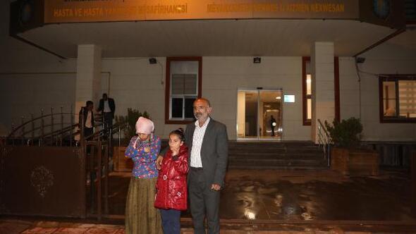 İhtiyaç sahibi aile misafirhaneye yerleştirildi