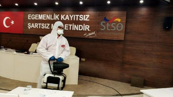 STSOda dezenfektasyon çalışması