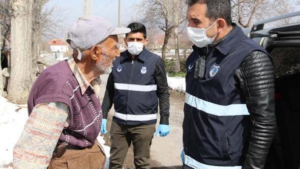 Hacılarda Vefa Sosyal Destek Grubundan 65 yaş üzeri vatandaşlara ziyaret
