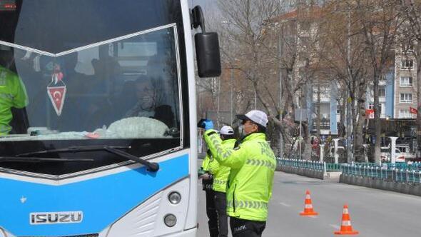 Kütahya'da otobüsler ve servis araçları denetlendi