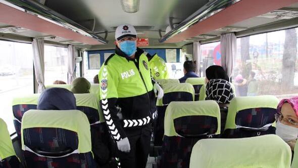 Polis ekiplerinden toplu taşımalara sıkı denetim