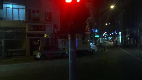 Kırklarelide trafik ışıklarıyla, Evde kal çağrısı
