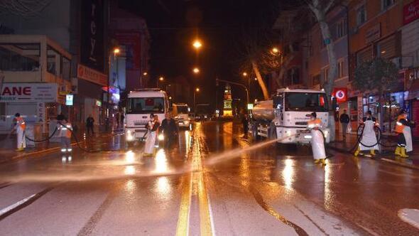 Malatyada cadde ve sokaklar dezenfekte ediliyor