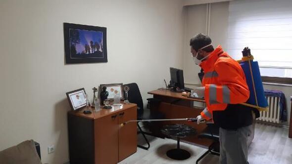 Trabzonda dezenfekte çalışmaları sürüyor