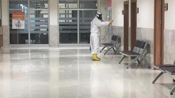 Çorluda adliye ve cezaevinde koronavirüs önlemleri artırıldı