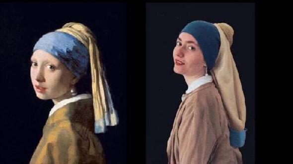 Dünyaca ünlü ressamların tablolarını canlandırdılar