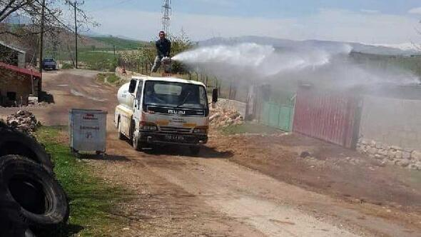 Gölbaşı'nda köyler dezenfekte ediliyor