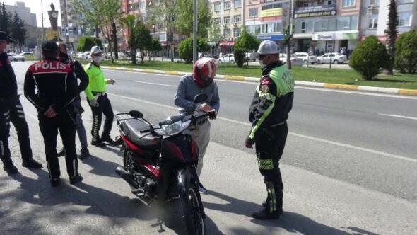 Adıyaman'da motosiklet uygulanması
