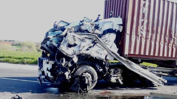 Tekirdağda  kaza: 1 ölü