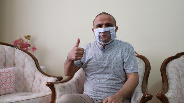 İşitme engelliler için ağız kısmı Şeffaf Maske