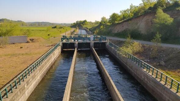 Manyas Barajından kanallara su verilmeye başlandı