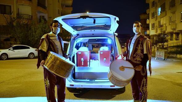 Ramazan davulcuları Mamakta iş başında