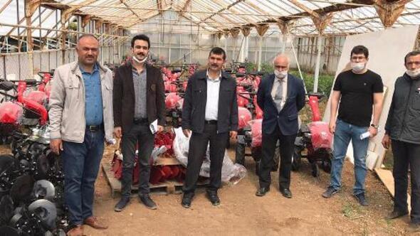 Kiliste, 52 çiftçiye çapa makinesi dağıtımı başladı