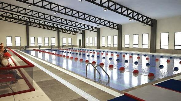 Akşemsettinde yüzme havuzu inşaatı devam ediyor