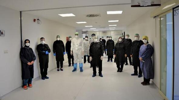 Konyadaki pandemi hastanesi başarılı tedavilere imza attı
