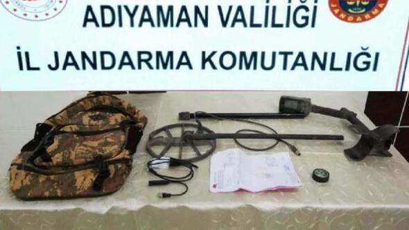 Adıyamanda izinsiz kazı yapan 3 kişi gözaltına alındı