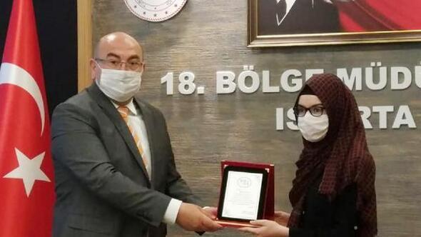 Burdurlu öğrenci Türkiye birincisi