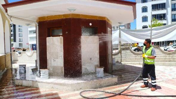 Elazığ Belediyesi camilerde hijyen çalışması