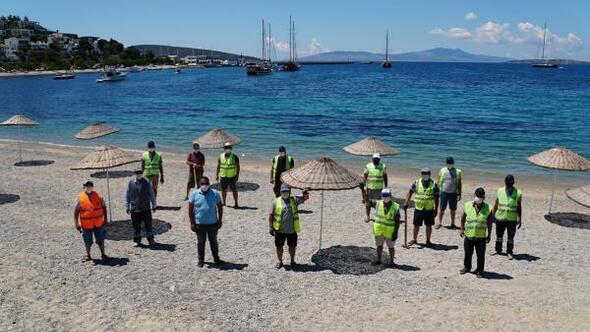 Bodrumda halk plajları 1 Hazirana hazırlanıyor
