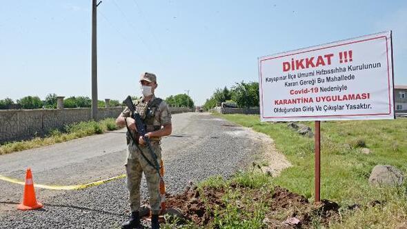 Diyarbakırda 40ın üzerinde vaka tespit edilen mahallede karantina