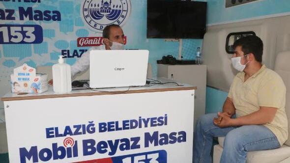Elazığ Belediyesinden mobil masa hizmeti