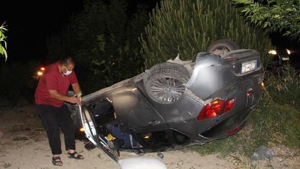 Baba ve kızı kazada yaralandı