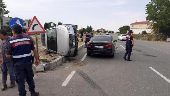 Uzunköprüde trafik kazası: 4 yaralı