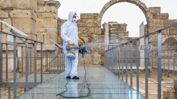 Laodikya Antik Kenti dezenfekte edildi