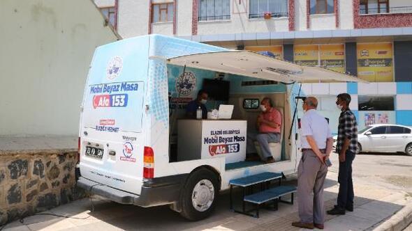 Elazığ Belediyesinden mobil masa hizmeti sürüyor