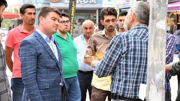 Aksaray Belediye Başkanı Dinçer, taksici ve esnafları ziyaret etti