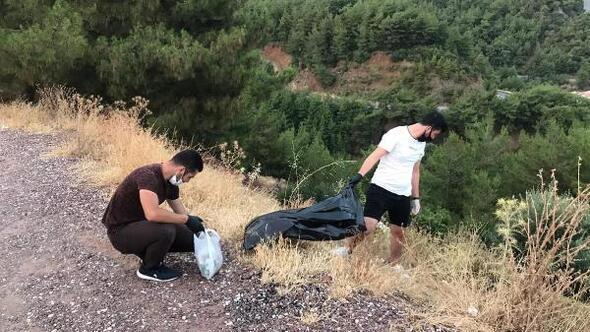 Marmariste AK Partili gençlerden çevre temizliği