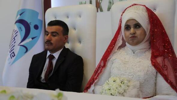 Görme engelli çiftin düğününü belediye üstlendi