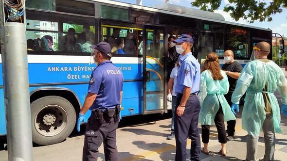 Toplu taşımada maske kontrolü