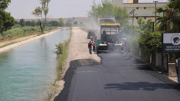 Adanada ilçe ve köylerde yollar asfaltlanıyor