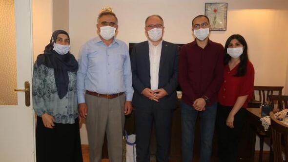 Başkan Bilginden lösemi hastası Ahmet Turana moral ziyareti