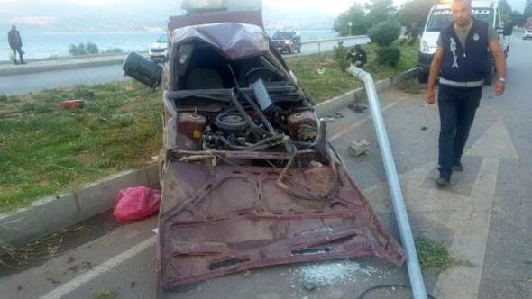 Ispartada kaza yapan sürücü öldü