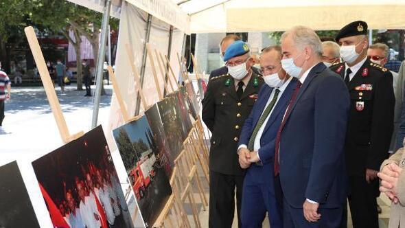 Denizlide 15 Temmuzun yıldönümünde kahramanlık fotoğrafları sergisi