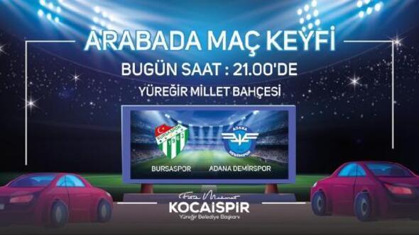 Adana Demirsporun maçları Millet Bahçesinde arabalardan izlenecek
