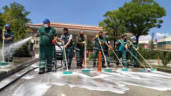 Hastanelerde dezenfekte çalışması