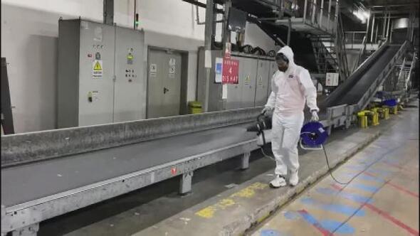 Sabiha Gökçende 52 günde 3 ton dezenfektan kullanıldı