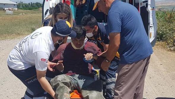 Kayseride motosiklet kazası: 1 yaralı