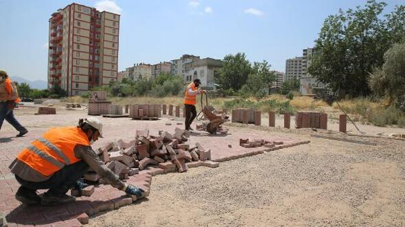 Melikgazi Belediyesi, 3 ayda 60 bin metrekare kilitli parke taşı çalışması yaptı