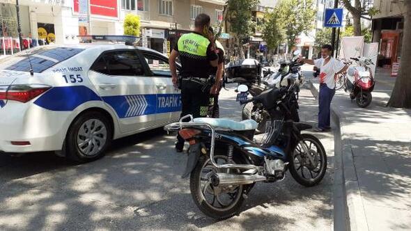 Polisin dur ihtarına uymadı motosikleti bırakıp kaçtı