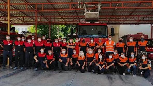 Fethiyede mahalle afet gönüllüleri acil müdahale ekibi göreve hazır