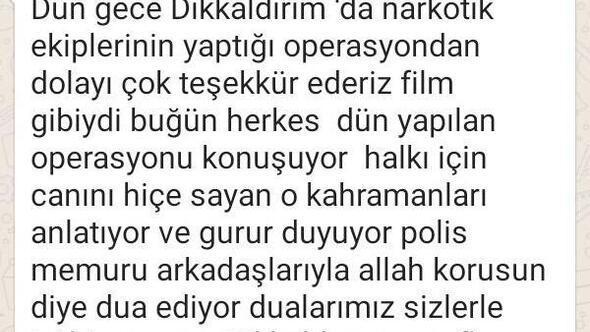Bursalılardan narkotik polislerine teşekkür mesajları
