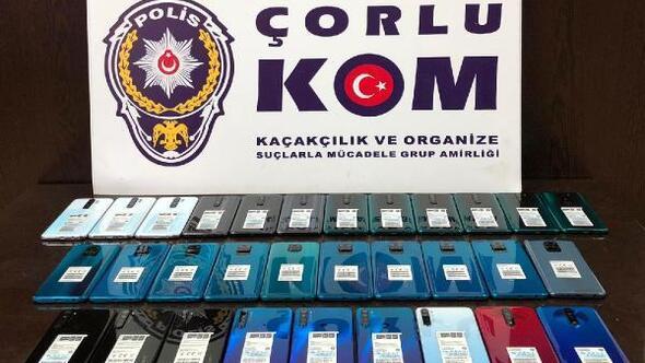 Tekirdağda 35 kaçak cep telefonu ele geçirildi