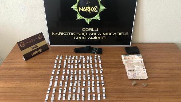 Polisin takibe aldığı şüpheli uyuşturucuyla yakalandı