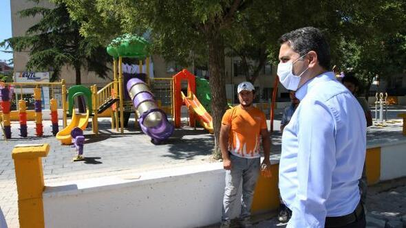 Tokatta çocuk oyun parkları yenileniyor